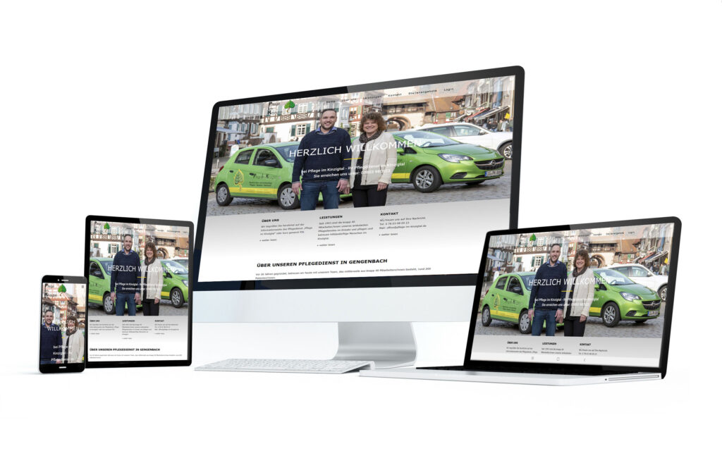 Pflege im Kinzigtal Website Altenpflege margate MARGATE - Agentur für Werbung