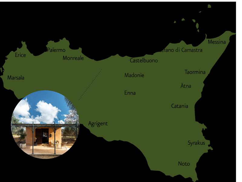 CasettaDiCalzata karte Sizilien Region MARGATE - Agentur für Werbung