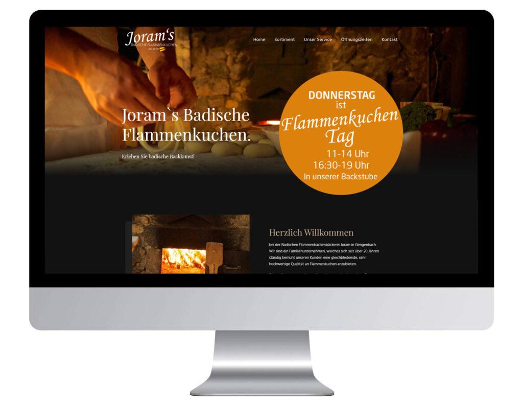 Badische Flammekuchen Webdesign